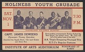 view Advertisement card for the Holiness Youth Crusade in Detroit, Michigan digital asset number 1