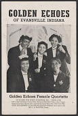 view Advertisement card for the Golden Echoes singing group digital asset number 1