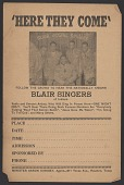 view Advertisement card for the Blair Gospel Singers digital asset number 1