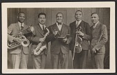 view Photographic postcard of the Cleveland Colored Quintet digital asset number 1
