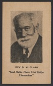 view Advertising card for Rev. S. M. Clark digital asset number 1
