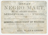 "view Advertisement card for the ""Great Negro Mart"" in Memphis, Tennessee digital asset number 1"