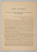 view <I>The Exodus: An Appeal to the Philanthropic People of the North for Aid and Sympathy</I> digital asset number 1