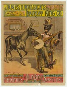 view Poster of the character Old Bob playing a banjo with his mule Calamity Jane digital asset number 1