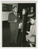 view Photograph of Louis Armstrong recording at the CBS Studio in New York digital asset number 1