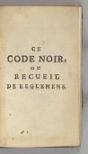 view <I>Le Code Noir</I> digital asset number 1