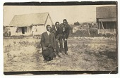 view Photographic print of three men including Joseph Abrams and Boisie Pryor digital asset number 1