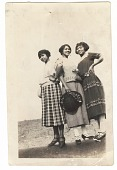 view Photographic print of Eunice Jackson and two other women posing digital asset number 1