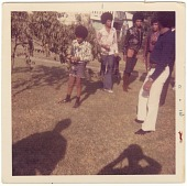 view Chromogenic print of The Jackson 5 standing in a yard digital asset number 1