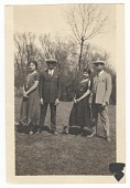 view Photographic print of two couples standing outdoors digital asset number 1