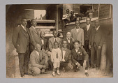 view Photographic print of men gathered for State Funeral Directors' meeting digital asset number 1