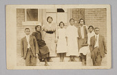 view Photographic print of 8 people in front of a building digital asset number 1