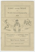 view Souvenir program for 1924 World's Colored Championship digital asset number 1