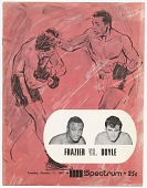 view Program for boxing match between Tony Doyle and Joe Frazier digital asset number 1
