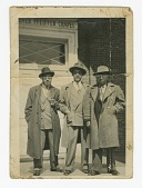 view Photograph of Waldo C. Falkener, Sr. and two unidentified men at Bennett College digital asset number 1