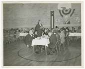 view Photograph of a man speaking at an Atlanta Life Insurance Company reception digital asset number 1