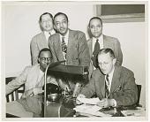 view Photograph of Gilbert DeLorme, Sr. and associates at Atlanta Life Insurance Co. digital asset number 1