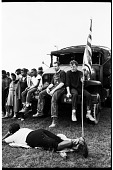 view <I>Rev. Richard Dickinson, Disciples of Christ Missionary, and Richard Jackson, Labor Organizer, Seated on Truck (right), Taking a Break with Other Marchers </I> digital asset number 1