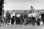 view <I>Dr. Martin Luther King, Jr., and Other Civil Rights Leaders on Highway 80, Selma to Montgomery March</I> digital asset number 1
