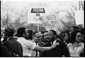view <I>Andrew Young Speaking to Ralph Bunche and Dr. Martin Luther King, Jr., Selma to Montgomery March</I> digital asset number 1
