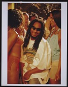 """view Photograph of Lil Jon with video models on the set of the """"Toma"""" video shoot digital asset number 1"""
