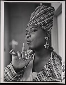 """view Photograph of Queen Latifah during the filming of """"Fly Girl"""" video digital asset number 1"""