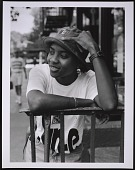 view Photograph of MC Lyte on Manhattan's Lower East Side digital asset number 1