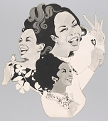 view Artwork featuring illustrated portraits of Della Reese digital asset number 1