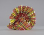 view Red, yellow, blue, and white Madras headdress digital asset number 1