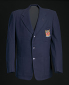 view Blazer, tie, and belt worn by Ted Corbitt for the 1952 Helsinki XV Olympics digital asset number 1