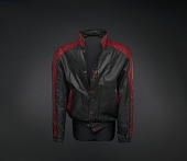 view Black and red leather jacket worn by Kurtis Blow digital asset number 1