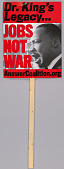 view Placard with image of Martin Luther King Jr. used at protests in Washington, DC digital asset number 1