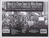 view Fliers for a march in memory of Mike Brown in Washington, DC digital asset number 1