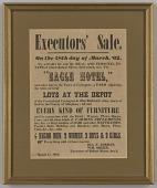 view Broadside for the estate sale of Robert Skeen including ten enslaved people digital asset number 1