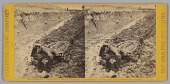 view Stereograph of a deceased Confederate soldier in a trench digital asset number 1