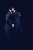 view Color slide of Poitier and Belafonte at a fundraiser at Boston Garden digital asset number 1