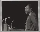 view <I>Martin Luther King, Jr. at podium, fundraiser at Boston Garden</I> digital asset number 1