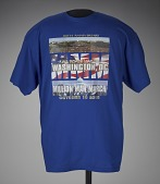 "view T-shirt stating ""All Roads Lead to Washington, DC"", worn at MMM 20th Anniversary digital asset number 1"