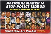 view Postcard for the National March to Stop Police Terror digital asset number 1