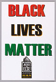 """view Posters stating """"Black Lives Matter"""" used at Million Man March 20th Anniversary digital asset number 1"""