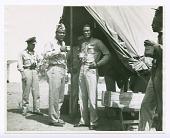 view Photograph of Joe Louis and Commander Benjamin O. Davis, Jr., Ramitelli airfield digital asset number 1