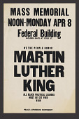 view Poster for a mass Memorial for Martin Luther King digital asset number 1