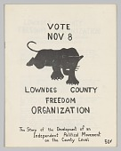 view Pamphlet for Lowndes County Freedom Organization digital asset number 1