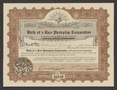 view Stock certificate for Birth of a Race Photoplay Corporation digital asset number 1