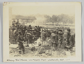"""view <I>Watching """"Hun"""" Planes - 317th Supply Train - Belleville, Oct 1918</I> digital asset number 1"""
