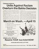 view Flier Advertising March on Washington Against the Bakke Decision digital asset number 1