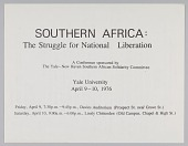 view Flyer for Southern Africa: The Struggle for National Liberation conference digital asset number 1