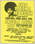 view Flyer Promoting a Rally for Angela Davis Day digital asset number 1