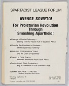view Flyer advertising Spartacist League Forum digital asset number 1