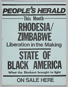 view Flyer advertising the September 1977 issue of The People's Herald digital asset number 1